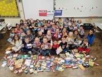 K classes collect items for the military