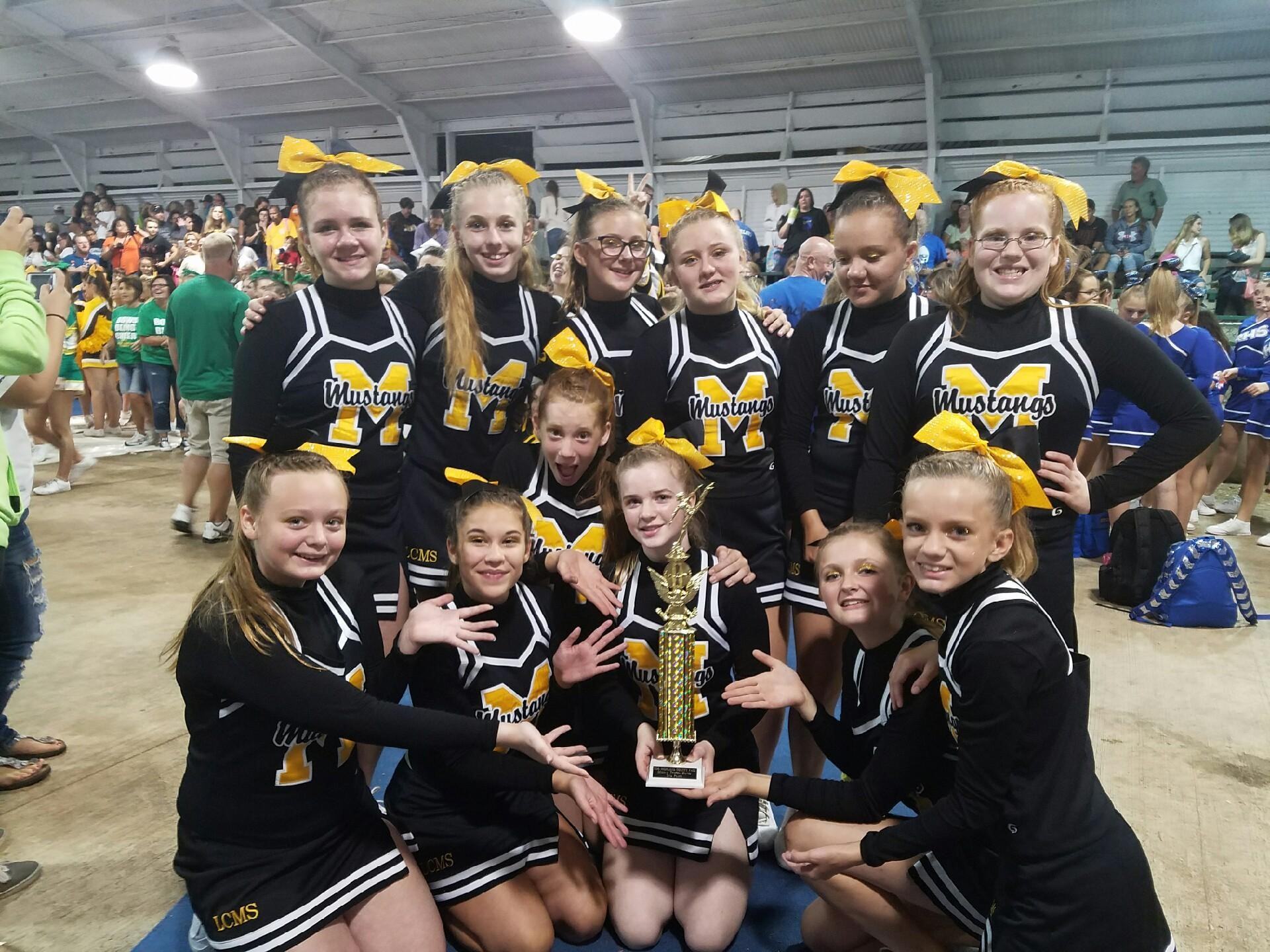 Cheer Team Takes 2nd at Highland Co.