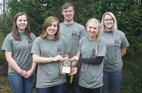 Lynchburg-Clay Envirothon team