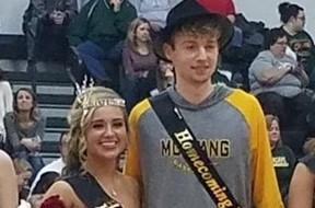Homecoming Queen Makayla Creed and King Eric McLaughlin