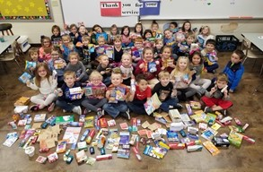 LC students Collect items for Military