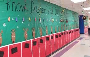 1st grade hallway - christmas